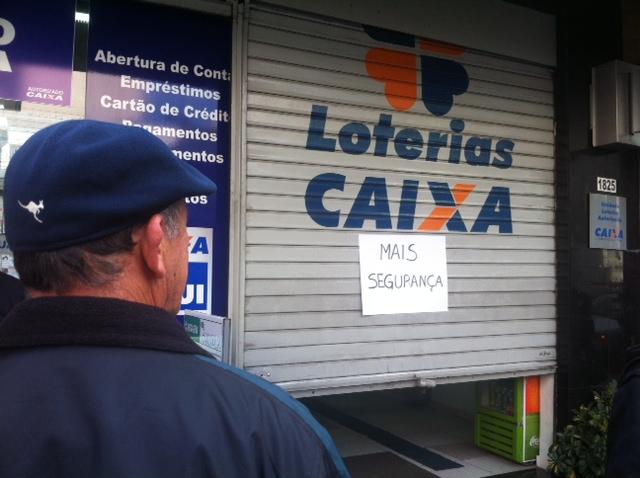 Donos de casas lotéricas protestam contra falta de segurança 7670d700f8e4b